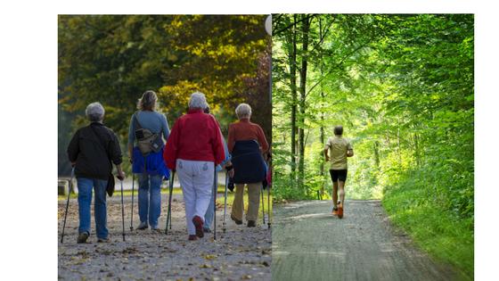 walken oder joggen